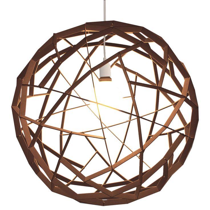 Havas pendel fra Showroom Finland, designet av Tuukka Halonen. En stor lampe i naturlig materiale so...