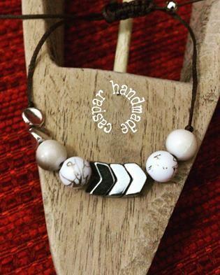 caspar casparhandmade woman bracelet ... beaded bracelet