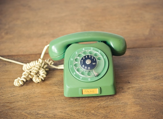 Green Vintage Rotary Phone