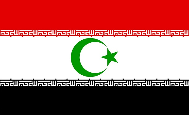The Hashemite Caliphate    Fictional Flag of a Hashemite Caliphate ->> i.e. a fictional mega-state that encompasses most of the muslim world (except for indonesia, malaysia, and bangladesh) and headed by a descendant of the King of Jordan (Abdullah II) with it's capital in Baghdad.