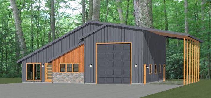 46x48 House 46x48h3b Garage Apartment Floor Plans House Plans Floor Plans