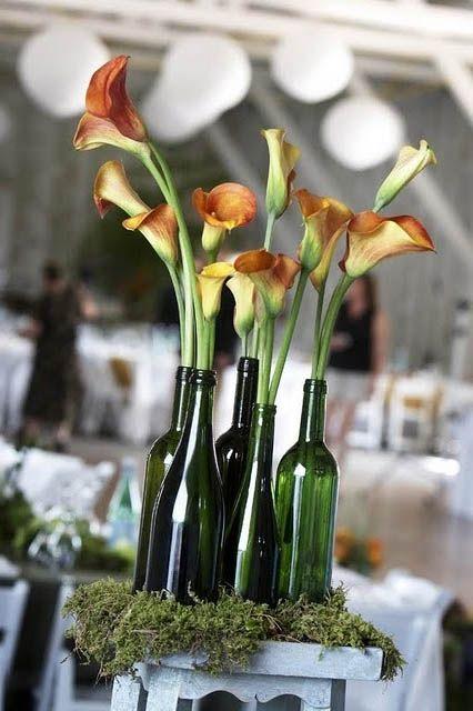 Wine Bottle Centerpiece Ideas | wine bottle centerpieces for wedding, wine bottle centerpieces for ...