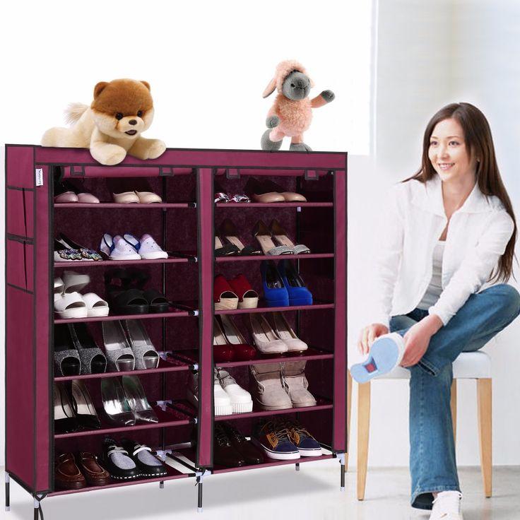 Homdox 6 Schicht 12 Raster Beweglicher Schuhregal Regal Schuh Abstellkammer Möbel Veranstalter Schrank #15-25