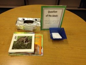 "Question of the Week Library CenterYou may be thinking, okay, a library center for students to practice research skills? Oh, yeah, they're gonna LOVE that. Guess what? Mine did! I never stated or implied in any way that there would be a prize, and my students loved this ""scavenger hunt"" type activity, searching madly for the answer in the books I had stacked on the table."