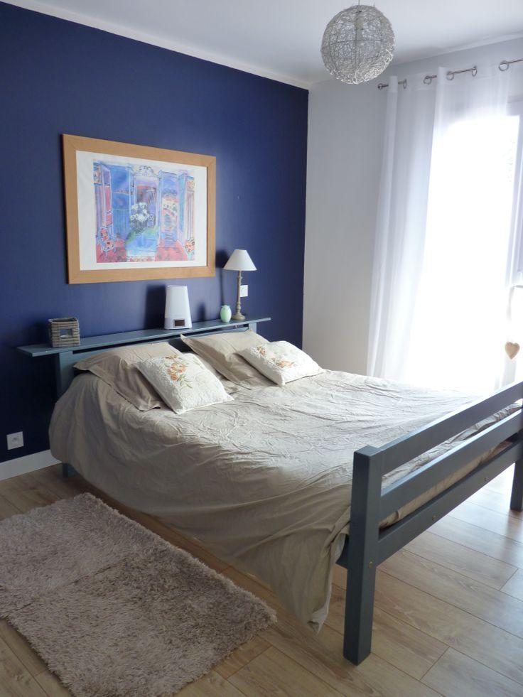 Chambre peinture bleu jeans n 1 luxens affiche raoul for Peinture bleu marine mat