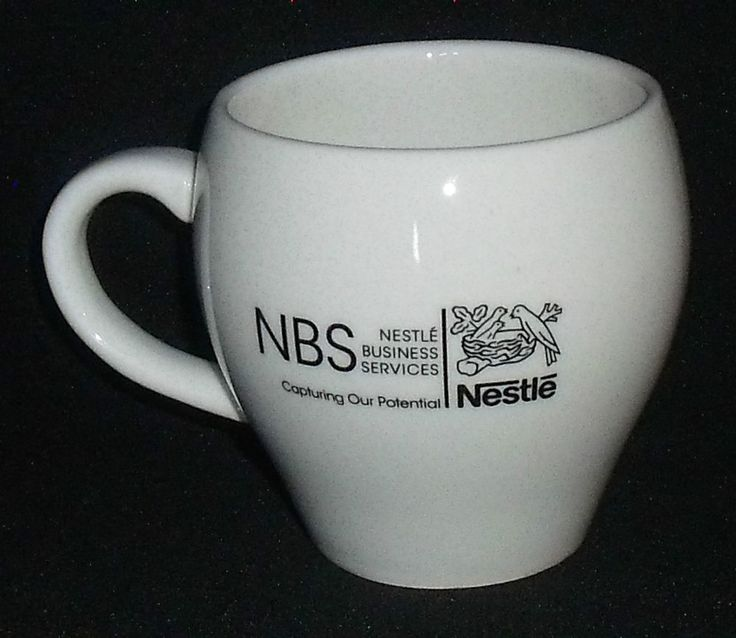 Nestle Logo Mug Cup Design Group Business Services White 3.75″ FREE US Ship