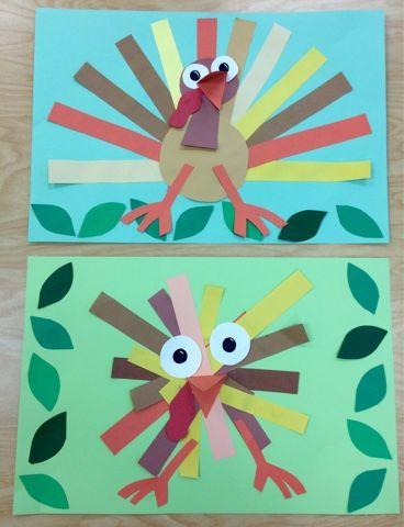 Art with Mr. Giannetto-project examples-PreK Fall/Autumn Art-Cut/Glue- Turkeys https://m.facebook.com/youngschoolart/