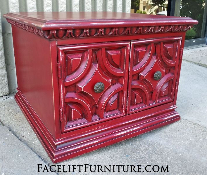 17 Best Images About Red Refinished Furniture On Pinterest