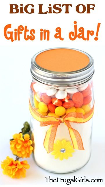BIG List of Gifts in a Jar Ideas and Recipes! ~ at TheFrugalGirls.com {you'll love this HUGE collection of fun mason jar gifts and creative homemade gift ideas!} #masonjars #giftsinajar #thefrugalgirls