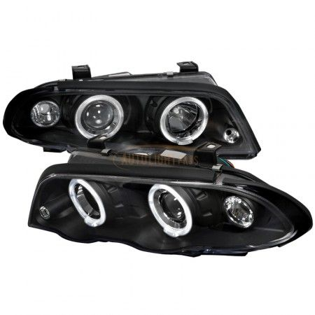 Spec-D LHP-E46994JM-TM | 2000 BMW 3 Series Chrome/Clear Halo Projector Headlights for Coupe/Sedan/Wagon