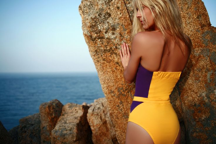 SWIMWEAR - Spring-Summer 2014 Charlotte Prune / Jaune  http://www.luzcollections.com/fr/collection-2014/18-maillot-de-bain-charlotte.html