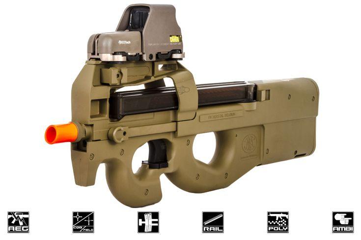 FN Herstal P90 SMG AEG Airsoft Gun by Cyma  ( Dark Earth )