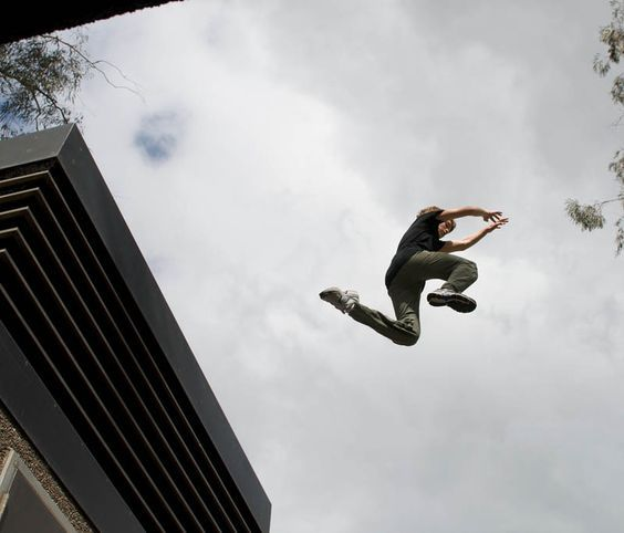 """""""I probably won't die, that's a positive. """" he said as he jumped"""