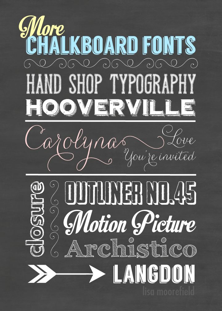 More Free Chalkboard Fonts, Backgrounds