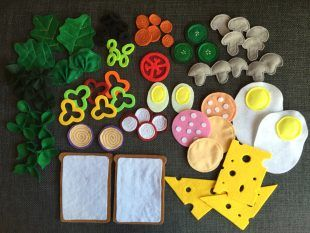Made of felt for the children's kitchen