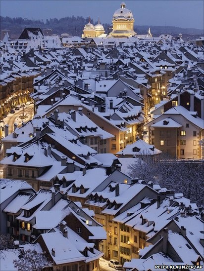 """Snow - this reminds me of the town of Nottingham, England - you expect the song """"Chim Chimney Cherie"""" from Merry Poppins to start playing, and the chimney sweeps to pop up and start dancing!!!"""