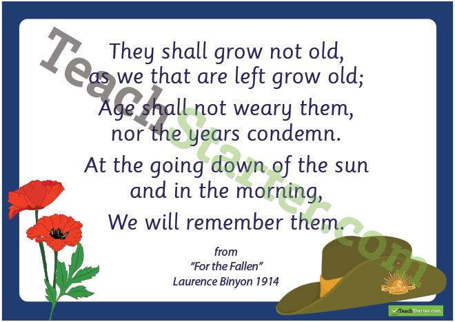 ANZAC Day Ode of Remembrance Poster - FREE