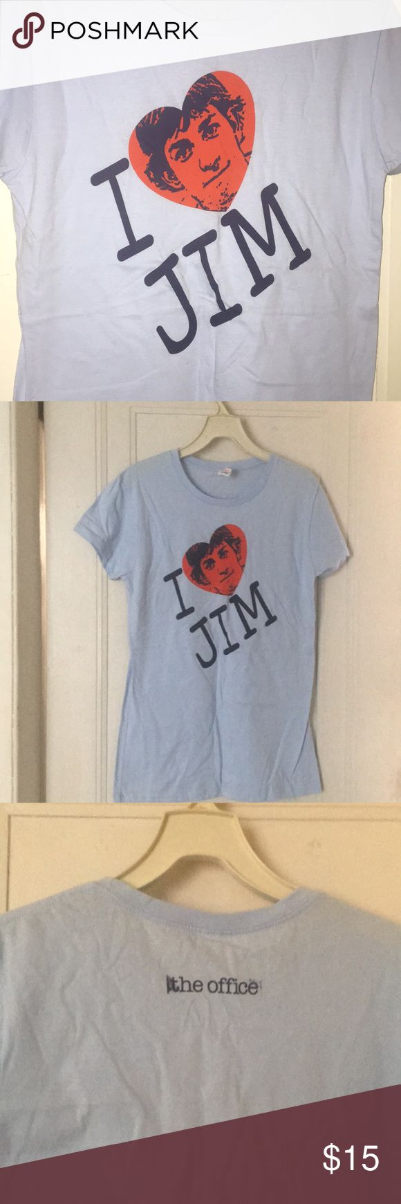 """""""I Love Jim' The Office tee Ladies tee in baby blue color with """"I Love Jim"""" design from The Office tv show. Bought at NBC Store in NYC at 30 Rock! NWOT never worn. Tops Tees - Short Sleeve"""
