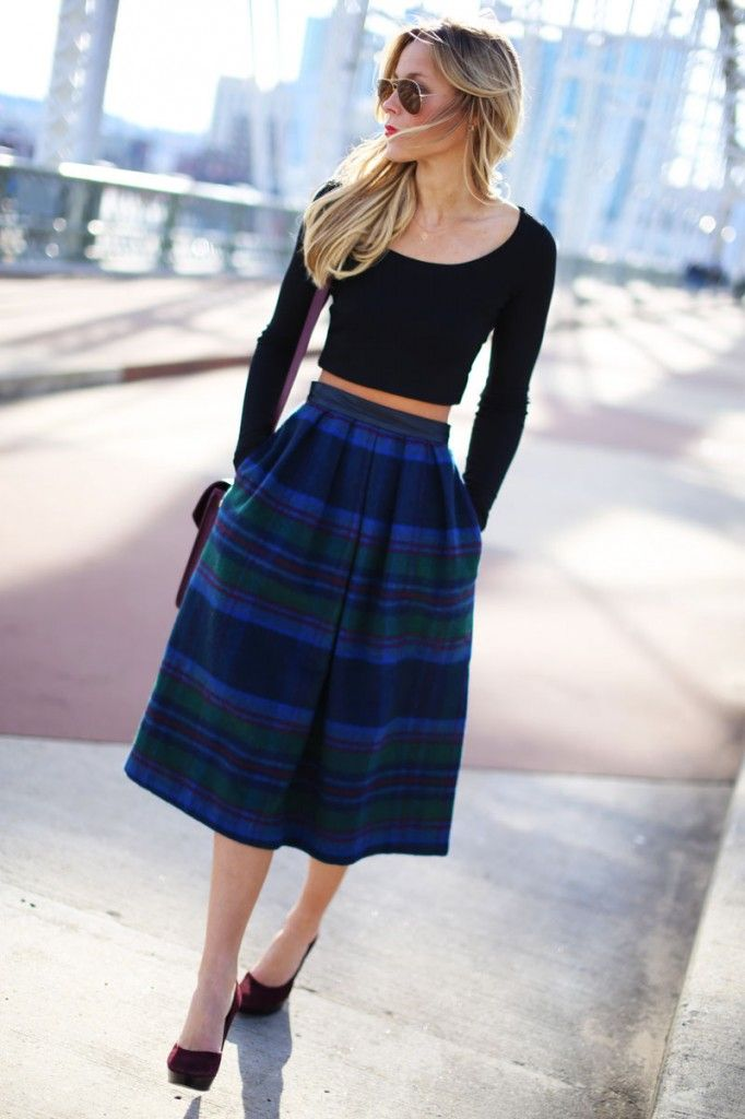 Umm maybe I can make something like this for the next Scottish Highland Games. Show a little spirit with a plaid skirt!