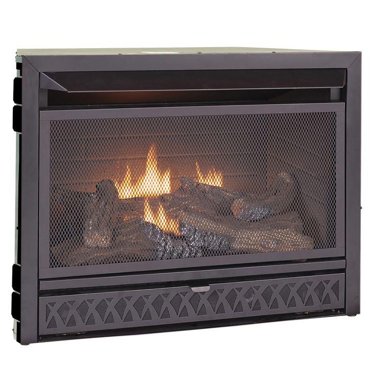 procom fireplaces 29 in ventless dual fuel firebox insert fbd28t fbnsd28t - Ventless Fireplace