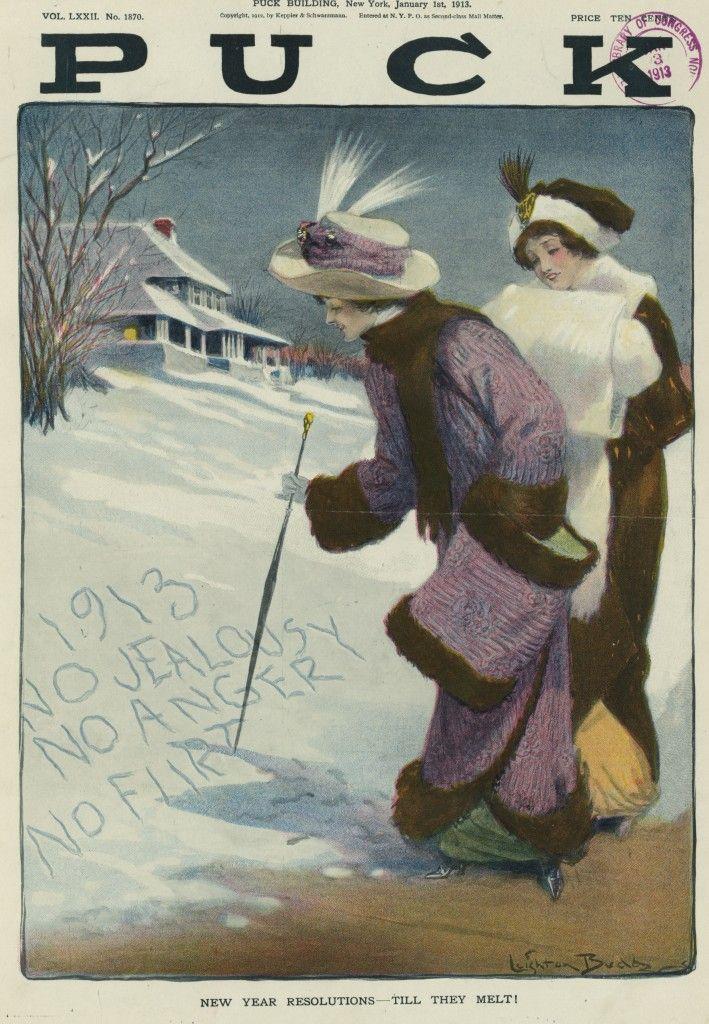 New Year's Puck Magazine, 1912, Leighton Budd Newyear