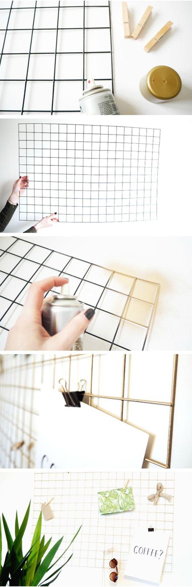 Tela aramada: o material virou tendência quando falamos em decoração e organização. Com custo baixo, dá para usá-lo em vários ambientes da casa. Inspire-se!
