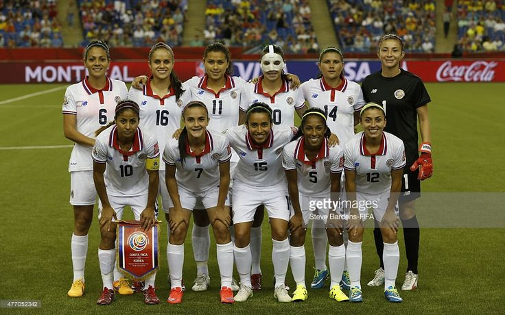 The Costa Rica players line up for a team photograph prior to the FIFA Women's World Cup 2015 group E match between Korea Republic and Costa Rica at Olympic Stadium on June 13, 2015 in Montreal, Canada.