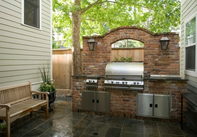 Garten Grill selber bauen coole Idee Beleuchtung gemütlich – Alan Jorgensen