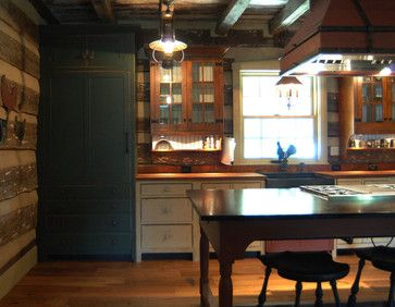1000 images about primitive farmhouse kitchen on for Log cabin kitchens and baths