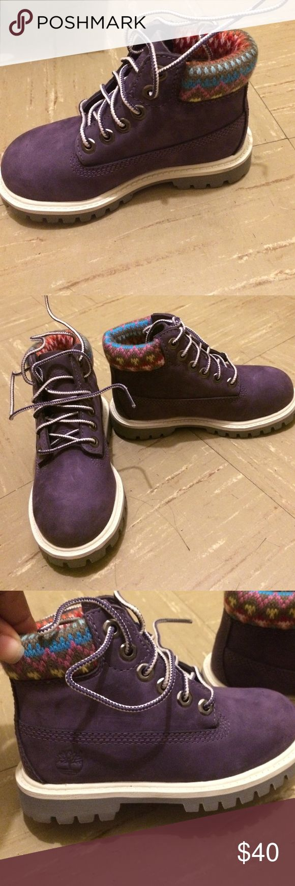 Brand new timberland purple boots Brand new timberland boots for little girls Timberland Shoes Boots