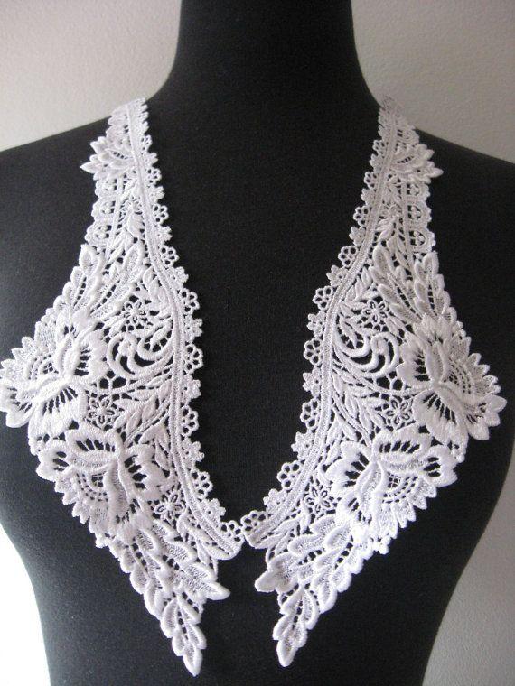 Venise lace applique lace appliques guipure by Threads2Trends, $4.20