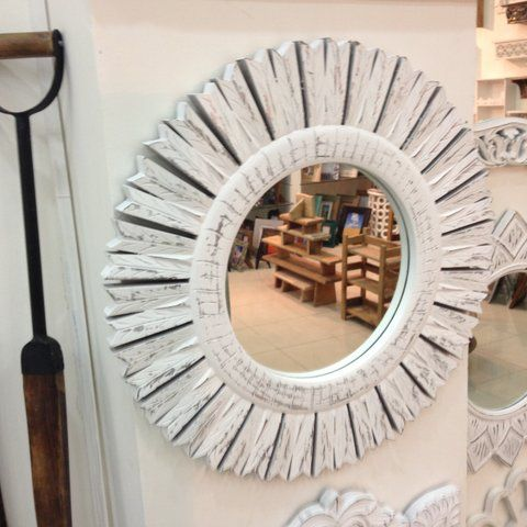 In love with this circular mirror wall art. Perfect for any stylish home.  To purchase or enquire email us: info@handmadeworld.in or call us: +91 9899440144 (India)