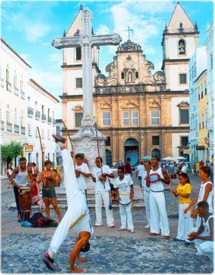 Capoeira is a Brazilian martial art that combines elements of martial arts, dance and music. It was created in Brazil mainly by descendants of African slaves with Brazilian native influences, probably beginning in the 16th century. It is known by quick and complex moves, using mainly power, speed, and leverage for leg sweeps. The word capoeira probably comes from Tupi, referring to the areas of low vegetation in the Brazilian interior.