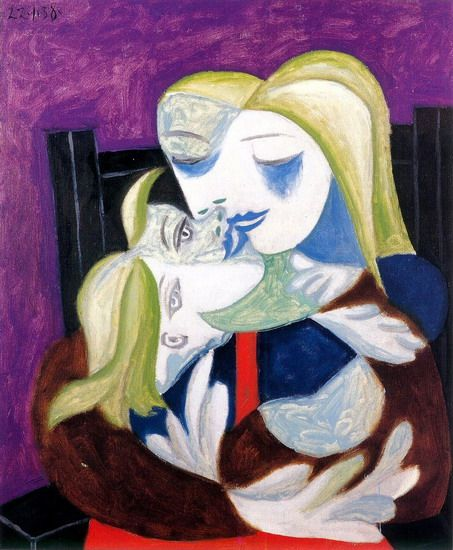 Pablo Picasso.  Femme et enfant (Marie-Therese et Maya).  1938 anys