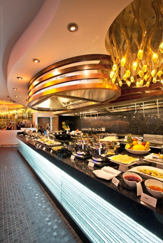 The theatre kitchen and buffet servery at Chaobaby Birmingham.