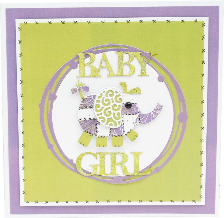 Featuring the Elephant Die (D568) and Baby, Boy & Girl Classic (D596) from Tattered Lace Dies