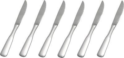 Steakmesser 6 Stück, Serie SPATEN aus Edelstahl Jetzt bestellen unter: https://moebel.ladendirekt.de/kueche-und-esszimmer/besteck-und-geschirr/besteck/?uid=3aa1c6e9-64d7-55d9-a7cb-768360225bfb&utm_source=pinterest&utm_medium=pin&utm_campaign=boards #geschirr #heim #kueche #esszimmer #besteck