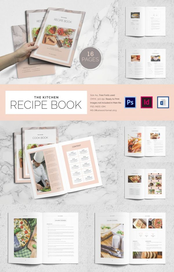 Cookbook Template   31+ Free PSD, EPS, InDesign, Word, PDF Format