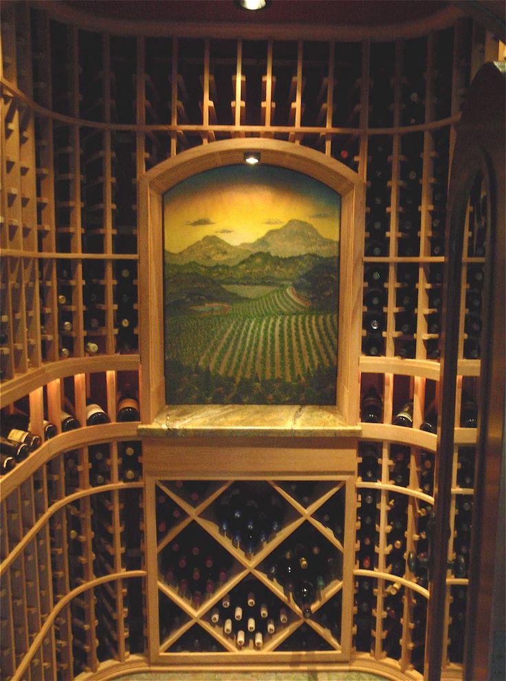 Home Wine Cellar Design Painting Amazing Inspiration Design