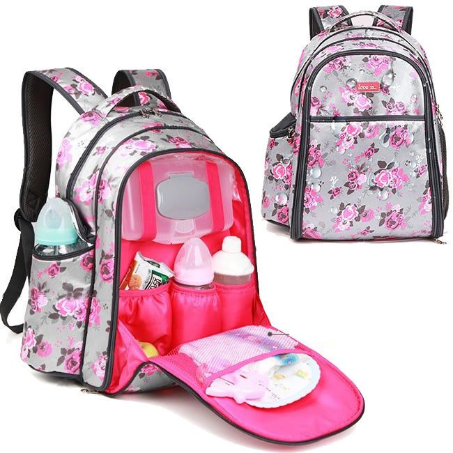 7a0df1352a0 Water Resistant Baby Diaper Bag Backpack Changing Bag Travel Bag Nappy bag    Clothing, Shoes   Accessories, Women s Handbags   Bags, …