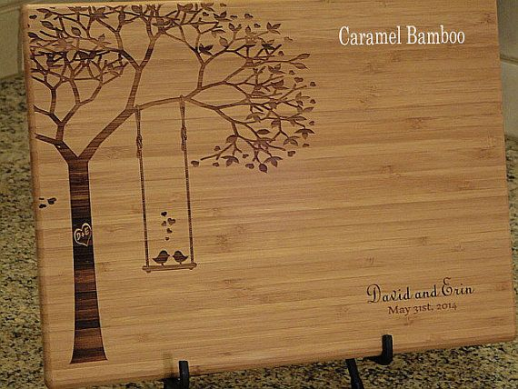 Personalized Cutting Board, Cutting Board, Lasered Engraved, Wedding Present, Anniversary Gift, Bridal Shower Gift, Christmas Present on Etsy, $32.95