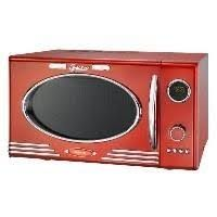 900W Retro Mikrowelle 25 Liter Mikrowellenofen 1000W Grill 12 Programme Melissa 16330088 rot