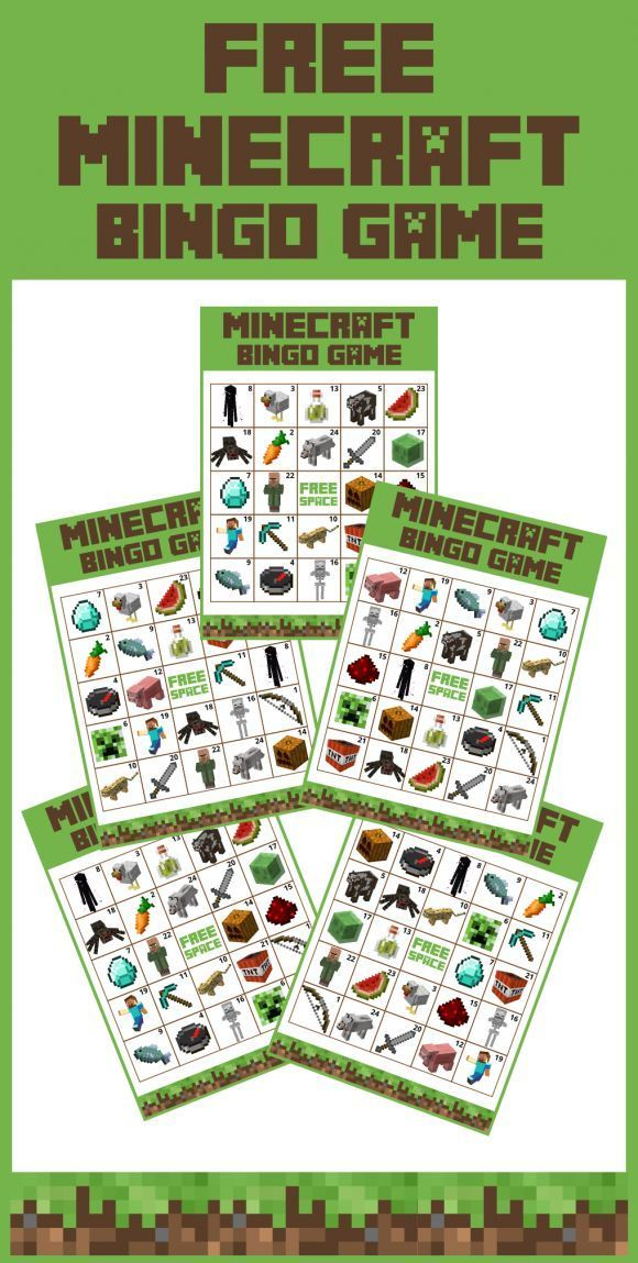 Get a free printable Minecraft bingo game for a fun activity to play at your Minecraft parties for both boy and girl birthdays!