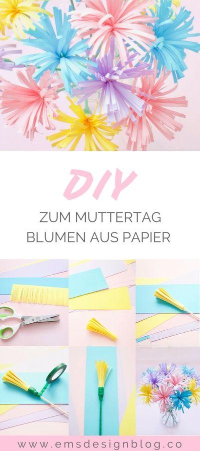 {DIY) Kreative DIY-Idee mit Papier: Muttertag rückt immer näher. Mache deiner …