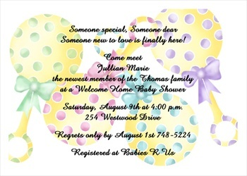 7 best welcome home baby shower images on pinterest party rattle welcome home baby shower party invitation filmwisefo Choice Image