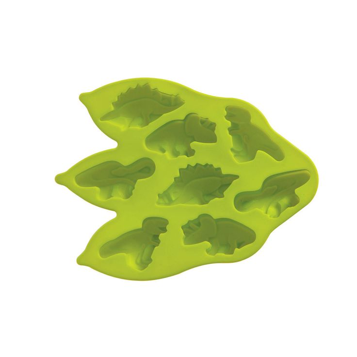 Cake Mould 8 Dinosaurs Lime Green Silicone Cook