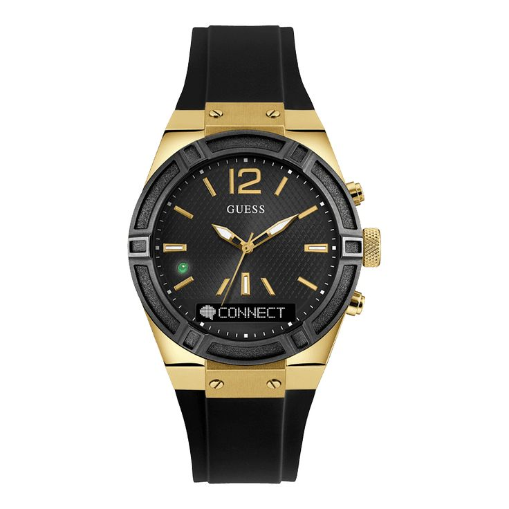 FASHION MEETS LIFESTYLE FUNCTIONALITY. GUESS Watches proudly announces the launch of their new wearable tech timepiece, GUESS CONNECT. GUESS has partnered with Martian Watches, to deliver a multi-function, fashion chic smartwatch line, designed to include models for men and women.