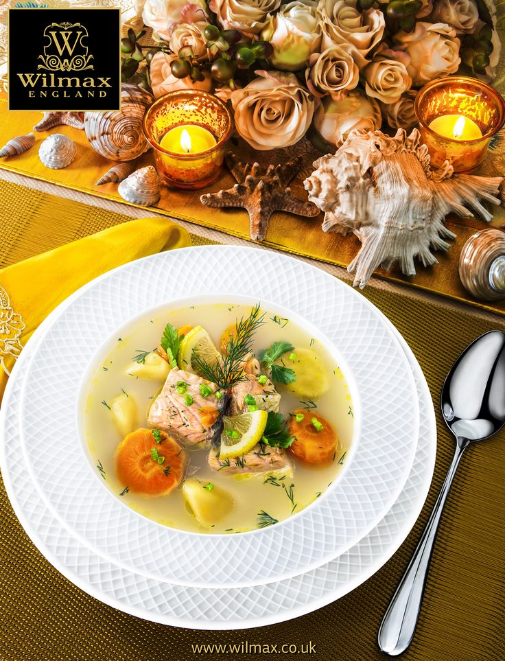 TABLE SETTING WITH WILMAX Soup Serving