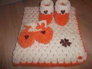 Ja spravím háčkovanú deku pre dieťatko + rukavičky+papučky - Jaspravim.sk