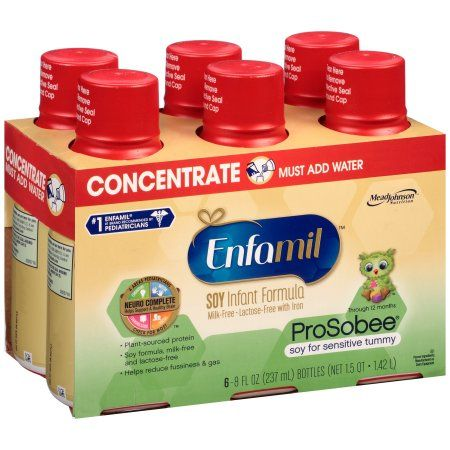 Enfamil ProSobee Soy Infant Formula Milk-Free, Lactose-Free with Iron 6 x 8fl oz (1.5qt)